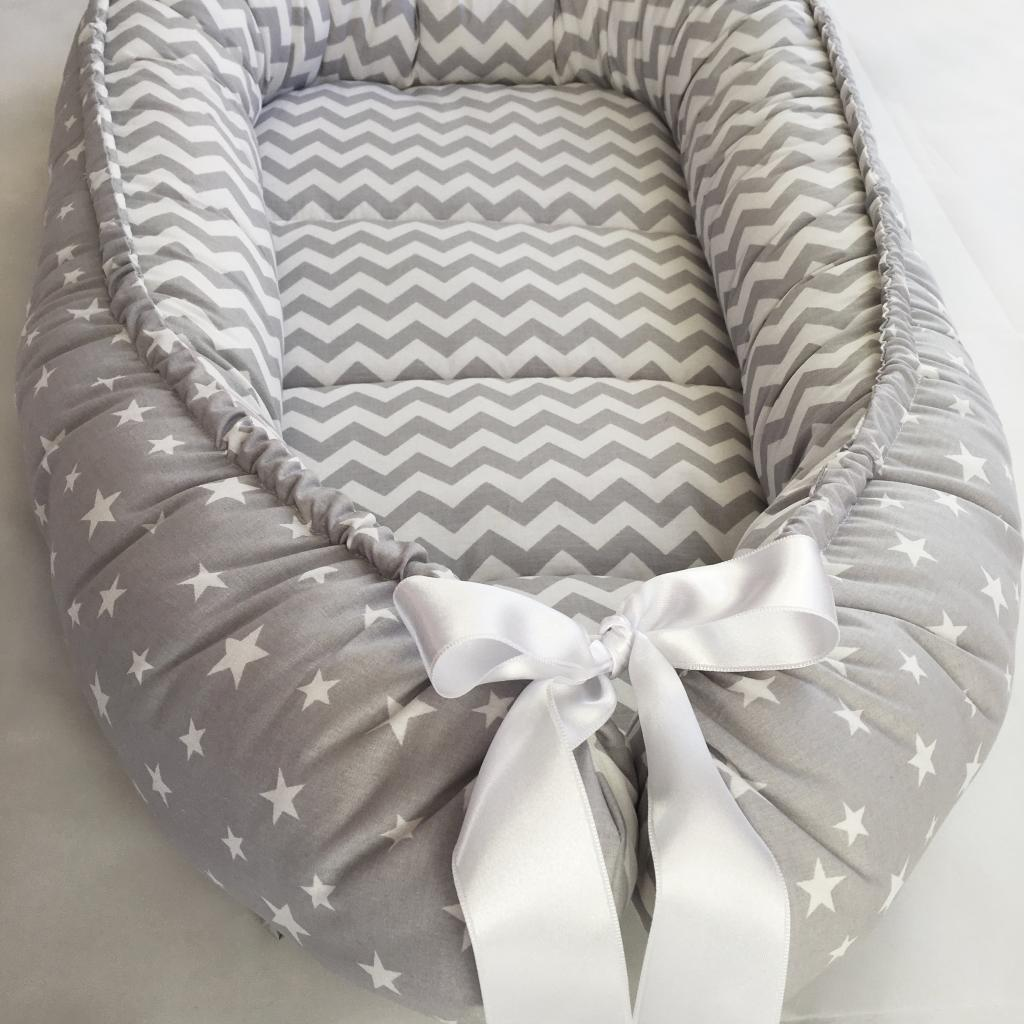 Handmade Double-sided Gray Organic Baby Nest Bed - Baby ...